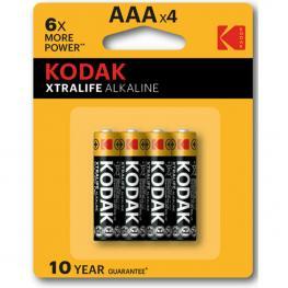 Kodak Xtralife Alkaline Aaa - 4Uds