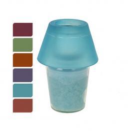 Lámpara de Cristal Con Vela Verde