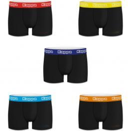 Set 5Pcs Boxers Hombre - Negro/cintura Color