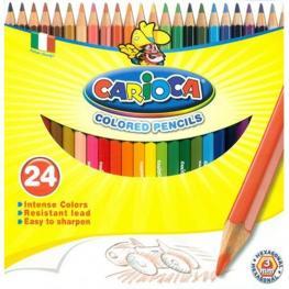 Lapices de Colores Carioca Madera 24Und.