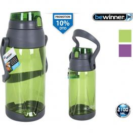 Botella Sport Agua 2100Ml Bewinner - Colores Surtidos
