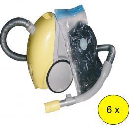 Lote 6 Bolsas Vacío Grandes - Con Válvula Para Aspirador 90X130Cm