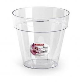 Maceta Plastico Transparente - 14 Cm