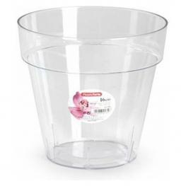 Maceta Plastico Transparente- 16 Cm