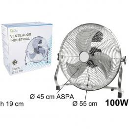 Ventilador Industrial Suelo 100W 45Cm