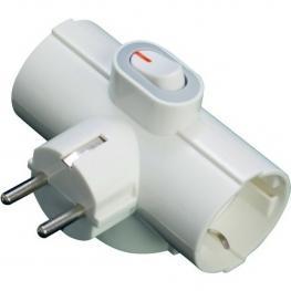 Adaptador de 3 Tomas Con Interruptor