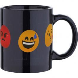 Mug 33Cl Gres Caras Black Emoticon