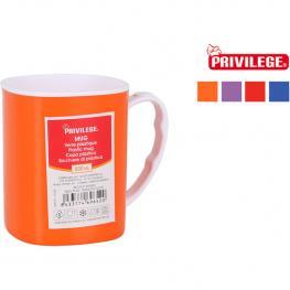 Mug Plástico 350Ml Bicolor Privilege - Colores Surtidos