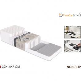 Organizador Cuchillos Plástico Nonslip 39X14X7Cm Confortime