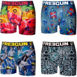 Pack 4 Calzoncillos Boxer Freegun Multicolor