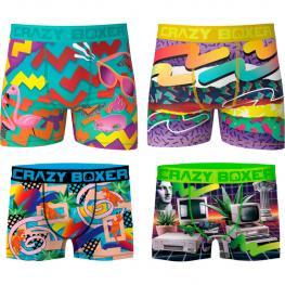 Pack de 4Pcs Boxers Crazy Boxer - Microfibra - Multicolor