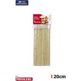 Palillos Pincho 100Pcs/20Cm Bambu Privilege