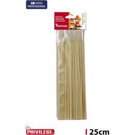Palillos Pincho 100Pcs/25Cm Bambu Privilege