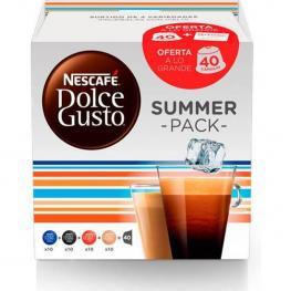 Summer Pack, Surtido de Variedades Espresso, 40 Cápsulas Dolce Gusto
