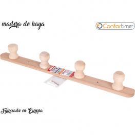 Percha 4 Pomos Madera 50X4,5X6Cm Wooden