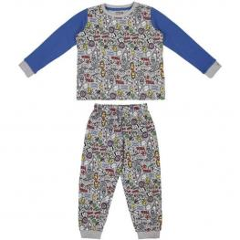 Pijama Largo Interlock Avengers Gray - Talla 12 Años