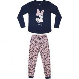 Pijama Largo Interlock Minnie - Rosa