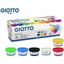 Pintura de Dedos 100Ml Giotto Caja 6 Botes