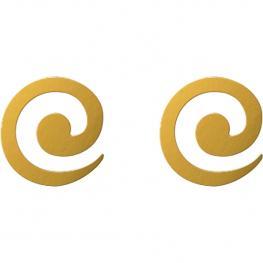 Pendientes Espiral Baño Oro Amarillo