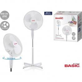 Ventilador Con Pie 40Cm 40W/ 3Velocidades Basic Home