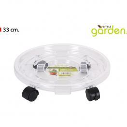 Porta Macetas Plástico 33Cm Little Garden