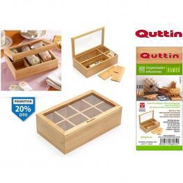 Organizador Infusiones Bambu 30X16X9Cm Quttin