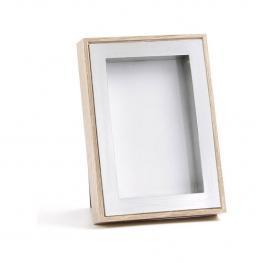 Portafotos Marrón y Plata 10X15 Cm