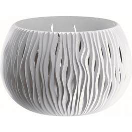 Prosperplast Bowl Sandy de Plástico Con Depósito En Color Blanco, 30 X 47,8 X 47,8 Cms