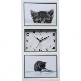 Reloj Con Fotos Blanco 41,5X20X4Cm