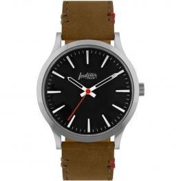 Reloj Latitude Silver And Black - Pulsera Marrón