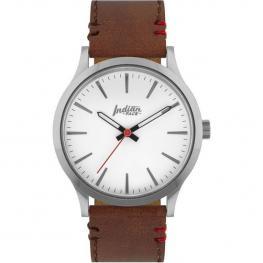 Reloj Latitude Silver And White - Pulsera Marrón