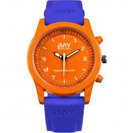 Reloj Para Hombre y Mujer Naranja y Azul de Pulsera Analógico South Beach Vs Venice