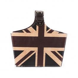 Revistero Con Asa Diseño Bandera Inglesa