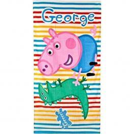 Toalla Peppa Pig - George y Dino 70X140Cm