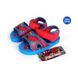 Sandalias Playa Con Velcro Spiderman