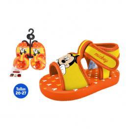 Sandalias Verano Infantil Mickey Naranja/amarillo