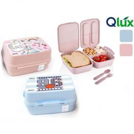 Sandwichera Compartimentos Doble  - Colores Surtidos