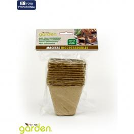 Set 12 Macetas Biodegraables 6X6Cm Little Garden