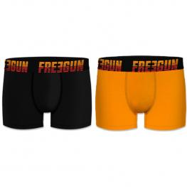 Set 2 Boxers Básicos Freegun - Multicolor Negro/amarillo