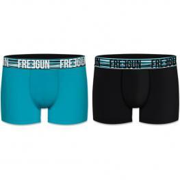 Set 2 Boxers Básicos Freegun Multicolor Negro/azul