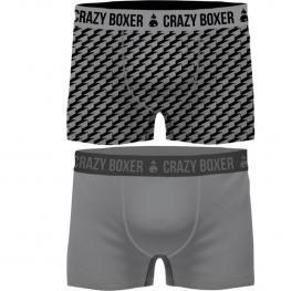 Set 2 Boxers Crazy Boxer  - Pack de 2 - Fabricados En Algodón Biológico