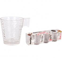 Set 3 Tazas Café 8Cl Napoli Crackle
