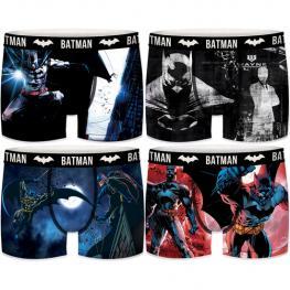 Set 4 Boxer Batman Dc Comics - Aleatorio - Microfibra