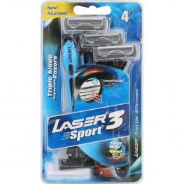 Set 4 Maquinillas Afeitar Laser Sport 3