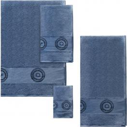 Set 4 Toallas Versace 19V69 Abbigliamento Sportivo Srl Azul