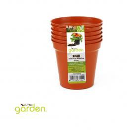 Set 6 Macetas Redondas Plástico 10Cm Little Garden