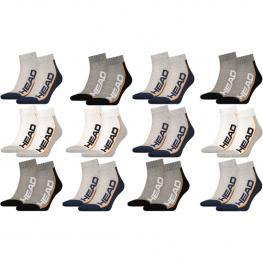 Set 6 Pares - Surtido - Calcetines Tobilleros Head - Unisex - Blanco/gris/negro