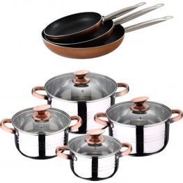 Set Baterua 8 Piezas Sip + Set 3 Sartenes Professional Chef Copper 20,24 y 28 Cm