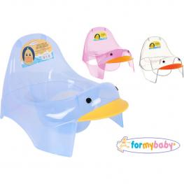 Silla Orinal Infantil Transparente Duck For My Baby - Colores Surtidos