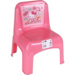 Silla Plástico Rosa, Hello Kitty, 30X32X42 Cm